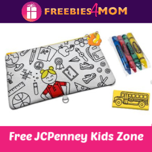 JCPenney Kid Zone Pencil Pouch July 13