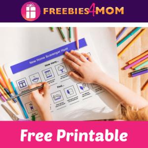 Free Kids Home Scavenger Hunt Printable