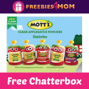 Free Mott's Applesauce Pouches Chatterbox