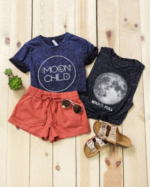 $16.95 Moon & Stars Graphic Shirts