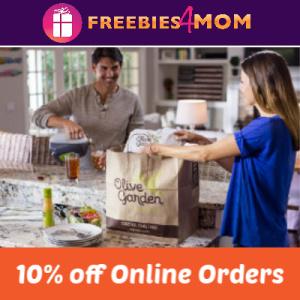 Save 10% Off Olive Garden Online Orders
