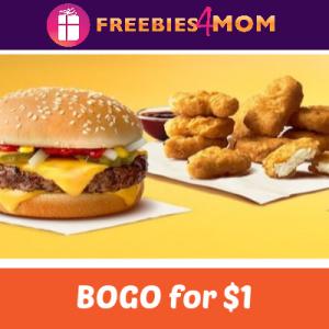 BOGO for $1 at McDonald's