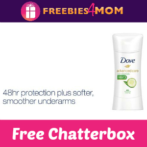 Free Dove Advanced Care Antiperspirant Chatterbox