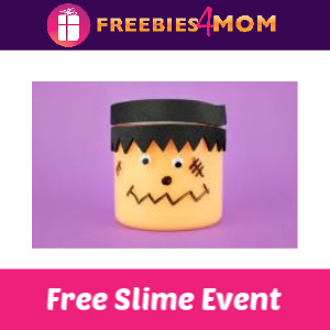 Free Monster Bash Slime Event at Michaels