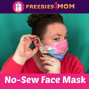 ✂️How to make a No-Sew Face Mask with Fabric Ear Loops