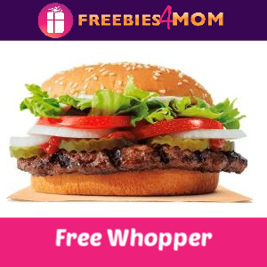 🍔Free Whopper at Burger King (In-App)