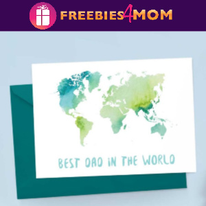 🌎Free Best Dad in the World Card