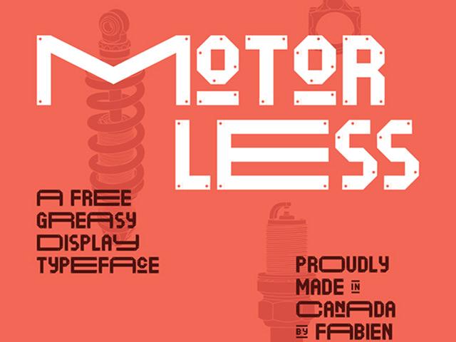 Motorless free font
