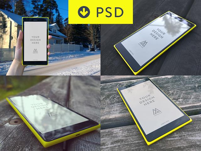 Lumia 1520 mockups