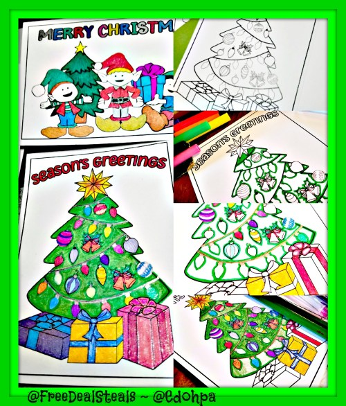 Holiday Coloring Cards Progress