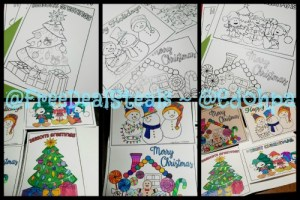 Holiday Coloring Cards