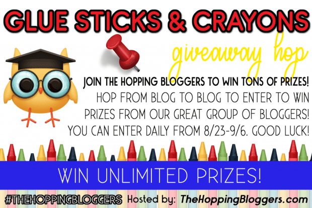Glue Sticks and Crayons Giveaway Hop