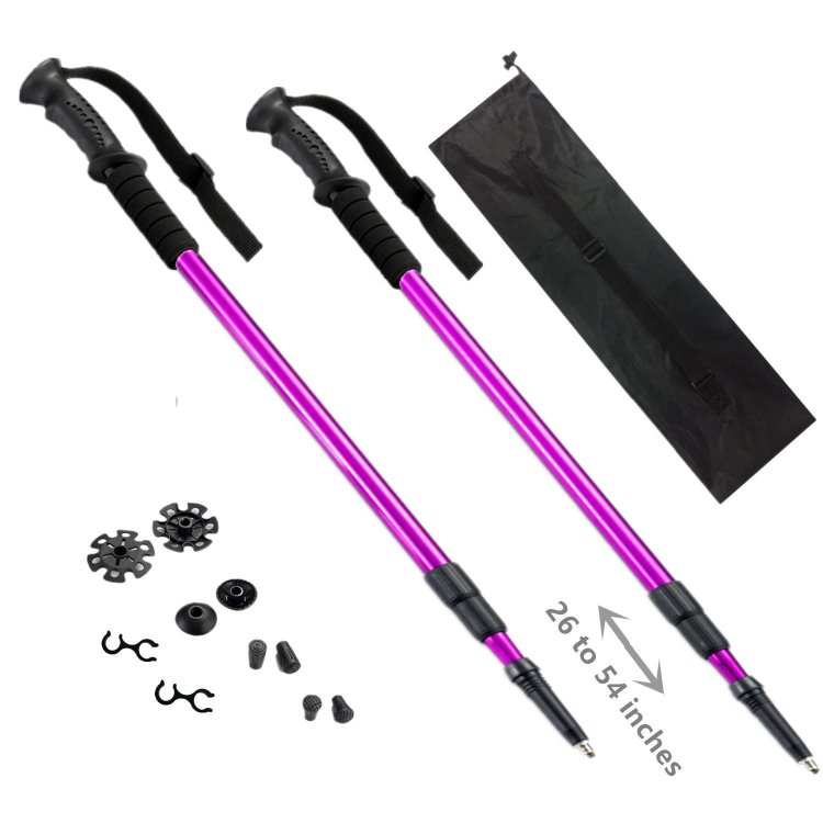 Purple Trekking Sticks