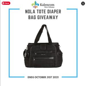 Nola Tote Diaper Bag #Giveaway!