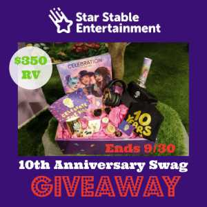 Star Stable 10th Anniversary Swag