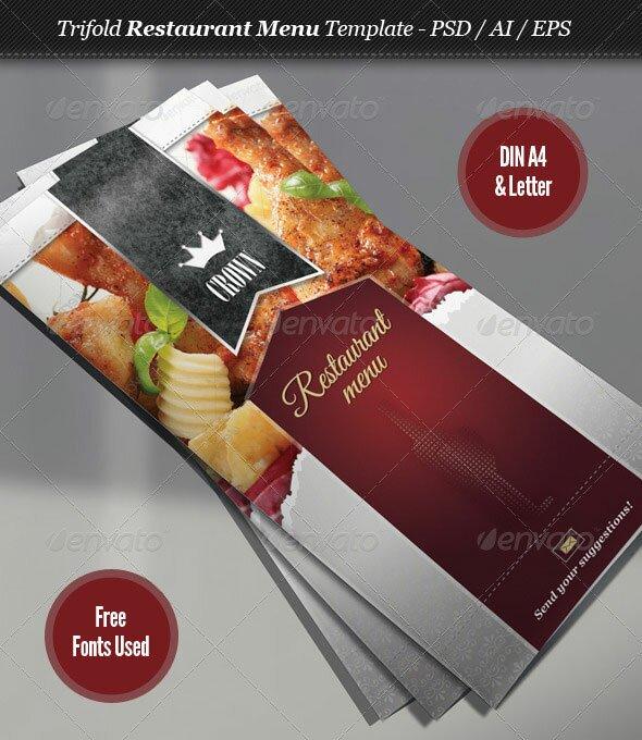 Tri Fold Menu Template take out wedding 30 useful tri fold – Restaurant Brochure Templates