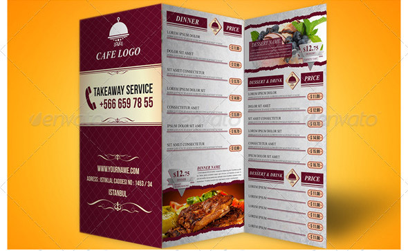 Trifold-Menu-Template