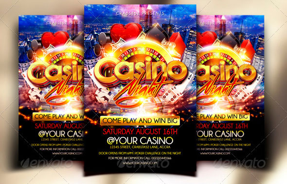 11 Beautiful Casino Flyer Templates – Design Freebies