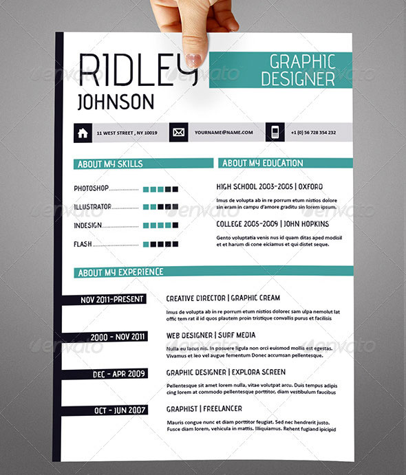 35 Best Resume Templates Of 2016. 1000 Images About Free Indesign
