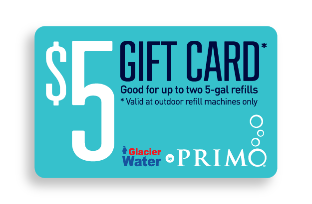 Redeem Two 5 Gal. Glacier Water with Primo Water $5 Coupon