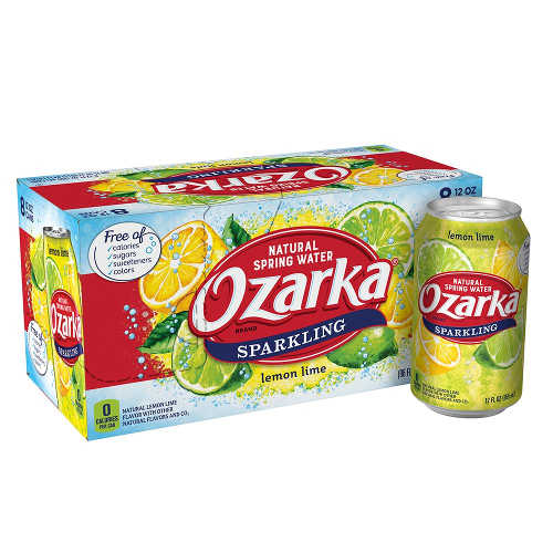 Free Mail Coupon for 8-Pack of 12 Ounce Cans Ozarka Brand Sparkling Natural Spring Water