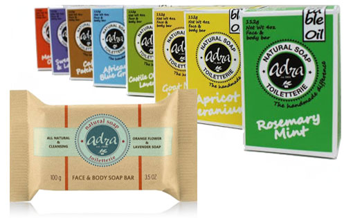 Free Natural Soap Bars that are Handmade from Adra Soap