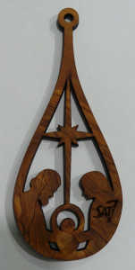 Request for a Free SAT-7 Olive Wood Christmas Ornament