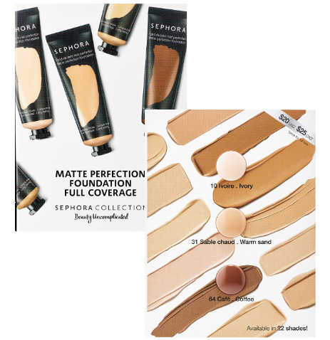 Free Sephora Collection Matte Perfection Full Coverage Foundation Sample at SC Giveaway