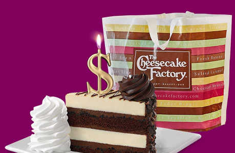 Free $25 Voucher to Spend at The Cheesecake Factory on April Fool Day (Valid to the First 10,000 Customers Only)
