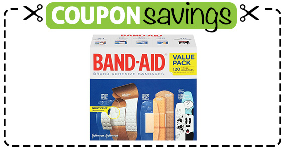 Save 50¢ off Band Aid Bandages