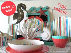Win a Beach Dinnerware Set