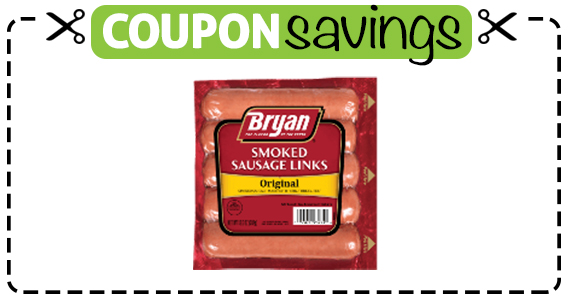 Save $1 off Bryan Smoked Sausage Links