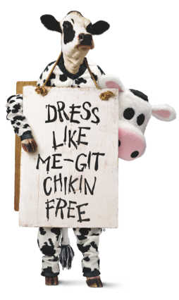 Wear Cow Costume and Get a Free Entrée at Chick-Fil-A