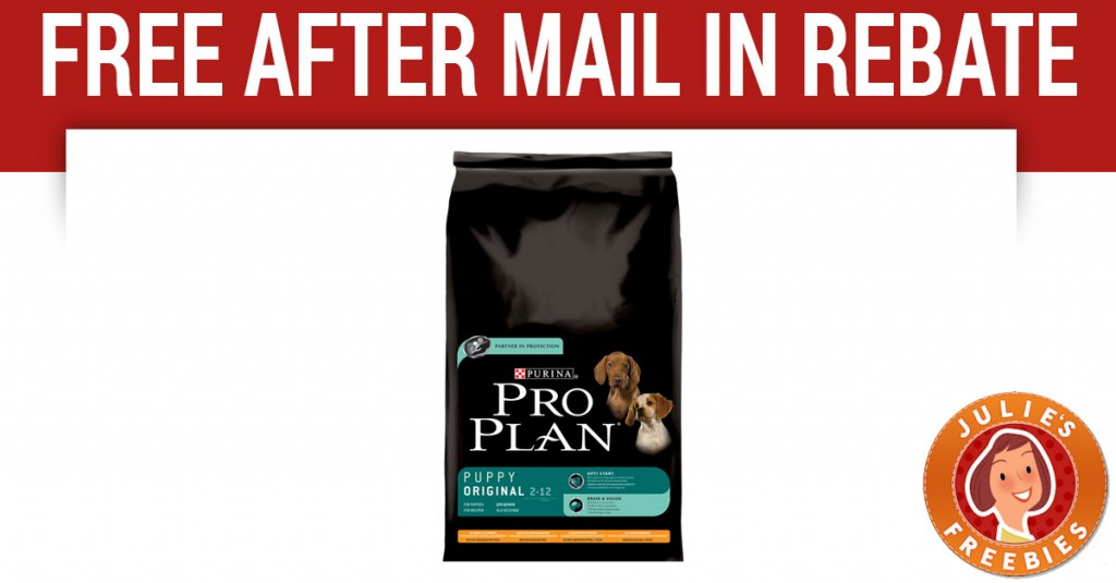 Free Purina Pro Plan after Mail in Rebate