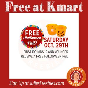 Free Halloween Pail at Kmart on 10/29