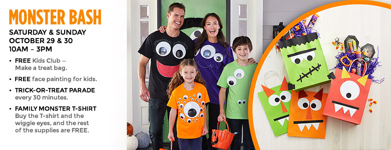 Free Monster Bash Event at Michael's