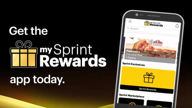 Free Large Pizza for Sprints Customers When They Download My Sprint Rewards App