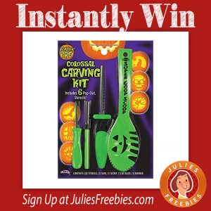 Instantly Win a Pumpkin Carving Kit
