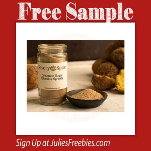 Free Sample of Savory Spice Cinnamon Sugar