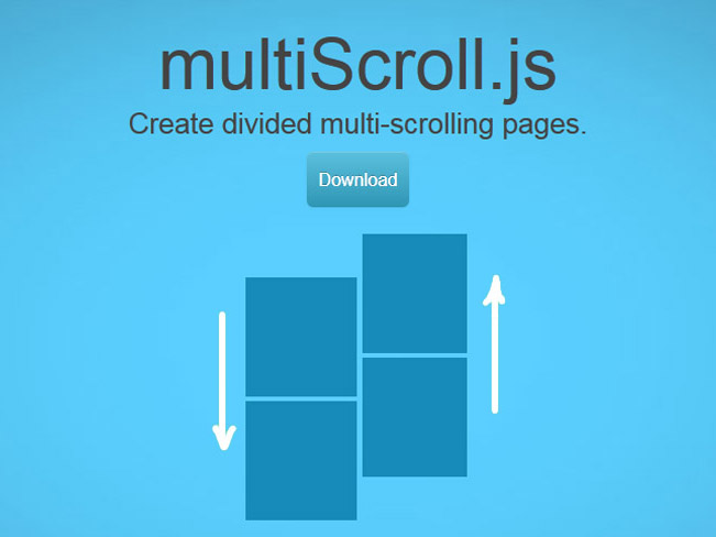 Multiscroll.js : jQuery plugin to Create multi-scroll pages with two vertical panels