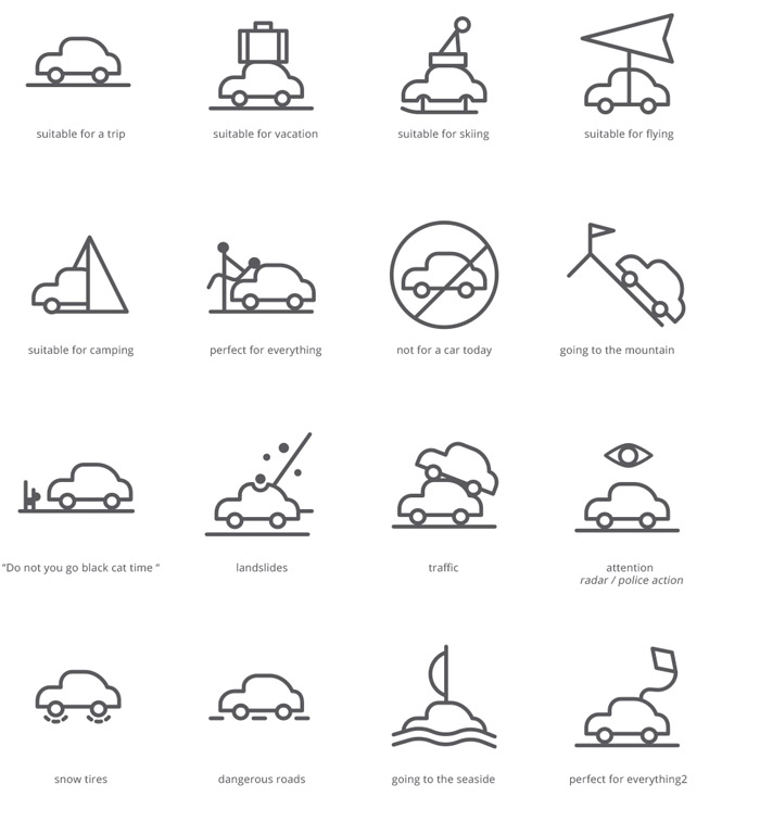 Weather Situations Icons with Free PSD