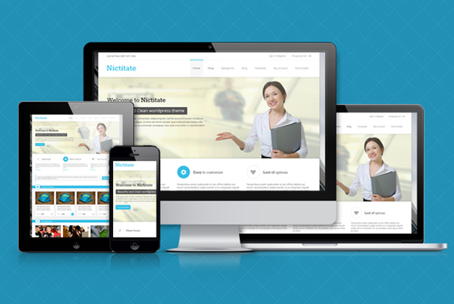 Nictitate : Responsive Business and Portfolio WordPress Theme