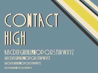 Contact High Free Retro Font