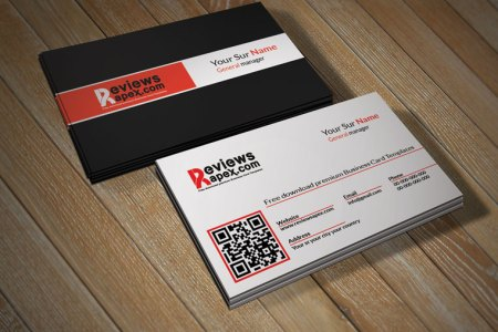 Creative Business Card Template with QR Code   Free Download     Creative Business Card Template with QR Code