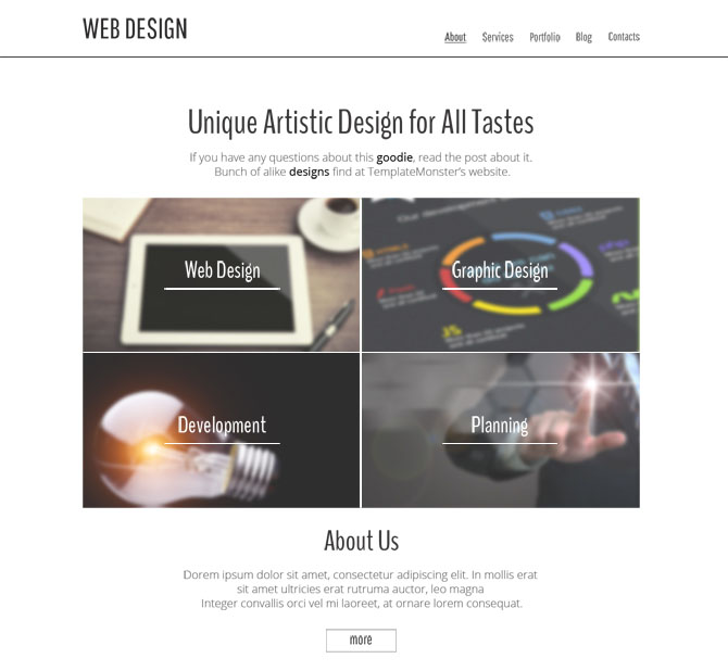 Free Clean HTML5 Theme for Design Studio