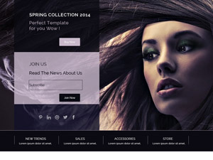 Fashion Web Page PSD