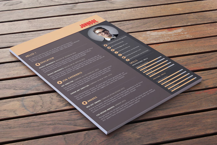 free modern resume template - Modern Resume Template Free Download