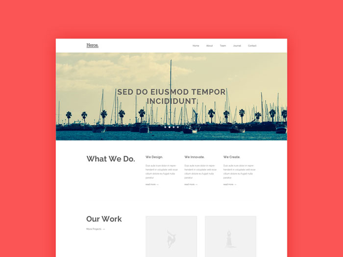 Heros : HTML5/CSS3 Template for Agency Website