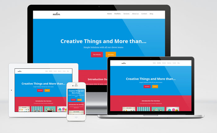 Melon – Free Clean and Responsive HTML Template