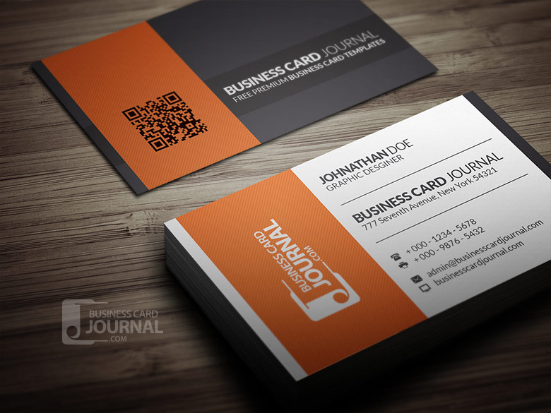 Free Simple Business Card Template for Corporate